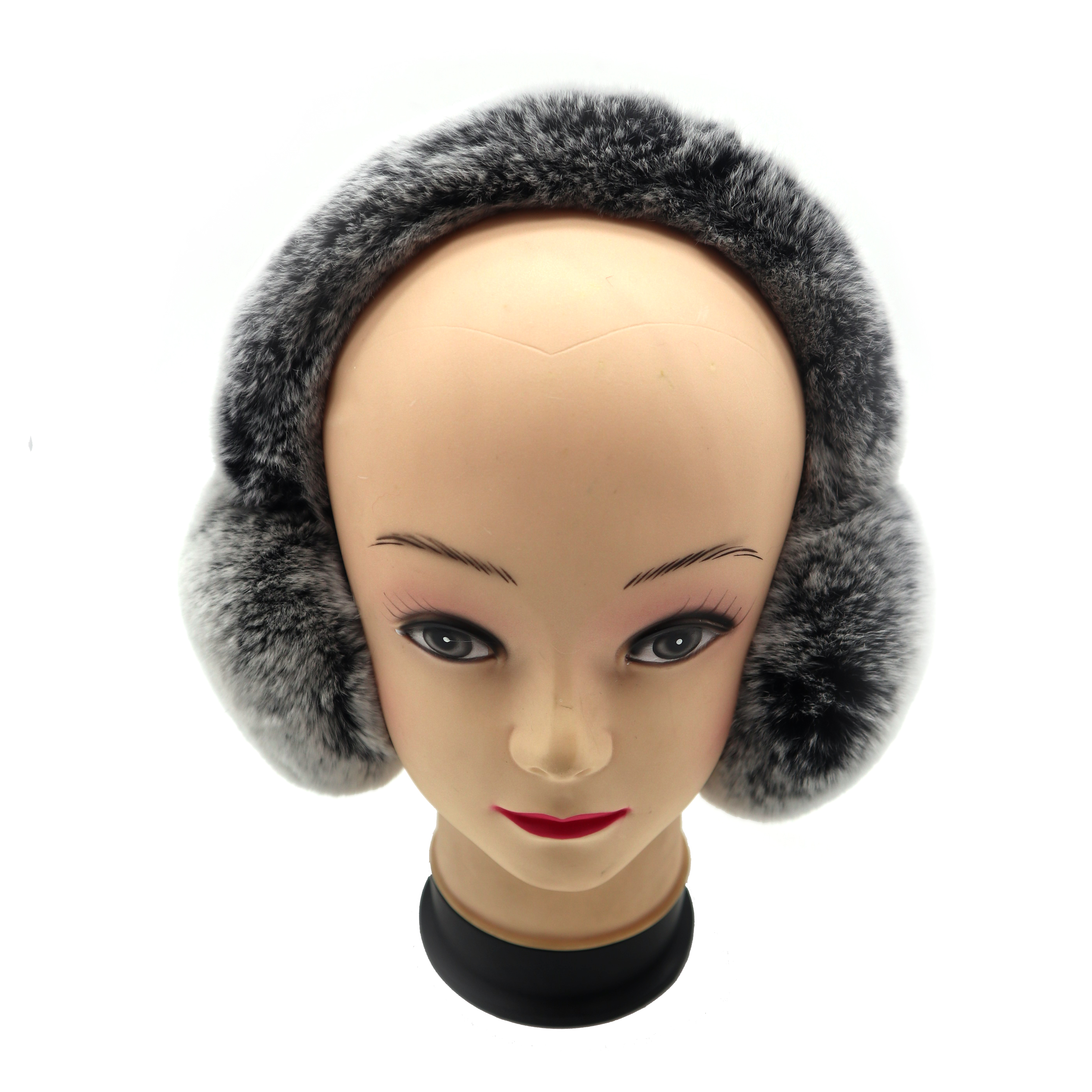 Real Fur 2019 New Fashion Novel Warm And Comfortable Quality Is Light And Easy To Carry  Rex Rabbit Hair Full Earmuffs