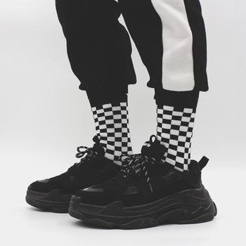 Pánske čierno-biele ponožky Fomo – 4 farby