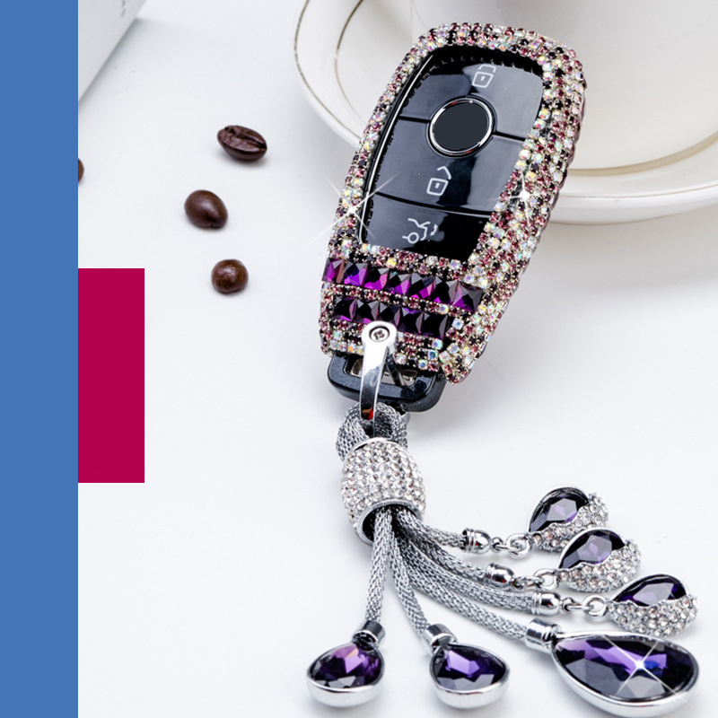 Diamond Car Key Case For <font><b>Mercedes</b></font> Benz <font><b>2017</b></font> <font><b>E</b></font> <font><b>Class</b></font> <font><b>W213</b></font> 2018 S <font><b>Class</b></font> Car Interior <font><b>Accessories</b></font> Romote Control Key Case New image