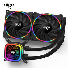Aigo su soğutma PC kasa CPU soğutucu Fan su soğutucu CPU Rgb Fan 120mm Fan dilsiz bilgisayar soğutma soğutucu LGA2011/1155/AMD