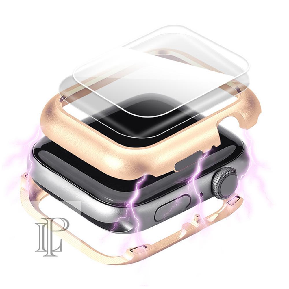 Tampa magnética Para apple watch caso apple watch 5 4 3 44mm/40mm banda iwatch 5 42mm/38mm protetor de tela de vidro de proteção