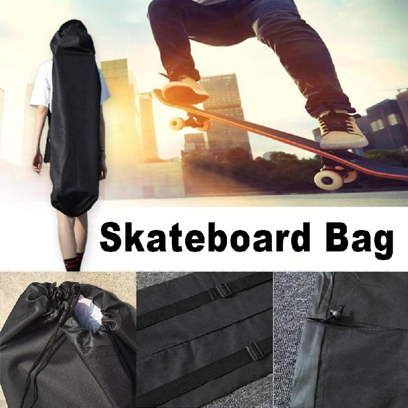 1pc Skateboard Bags Oxford Fabric Longboard Bags 120cm Bags Backpack Electrical Wear-Resistant Durable Longboard Bags Black