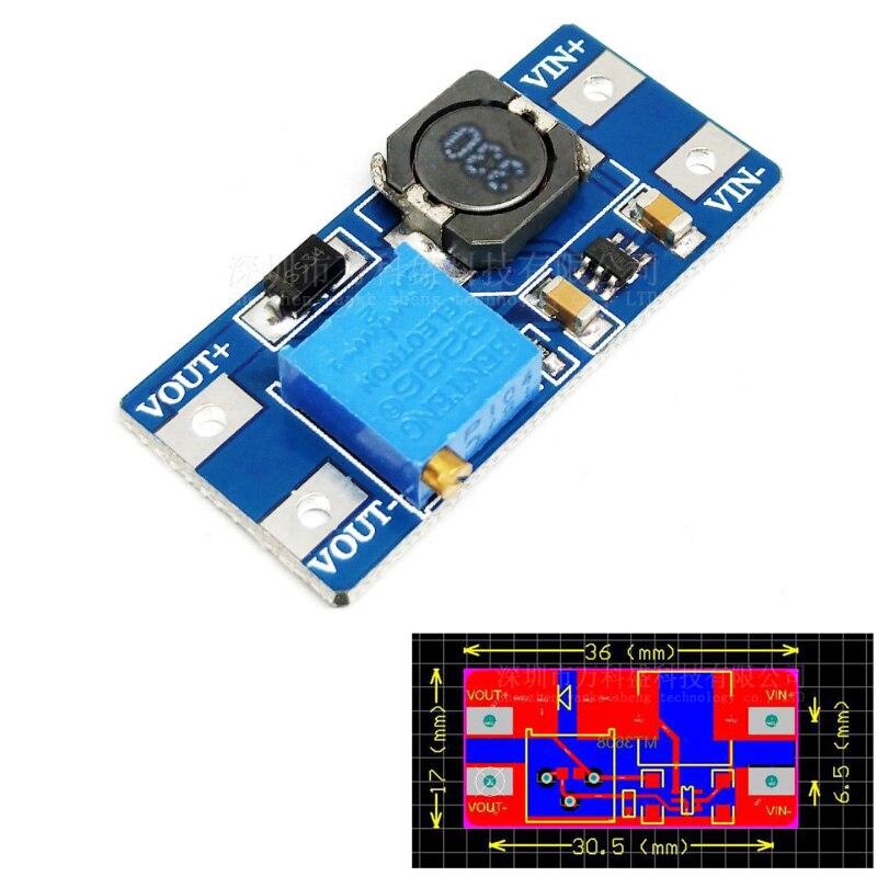 1/2 Pcs DC DC Step Up Converter Boost 2A Power Supply Module IN 2V- 24V To OUT 5V-28V Adjustable Regulator Board Dropship
