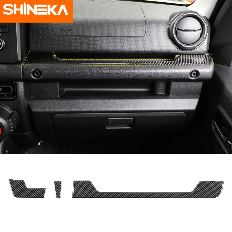 SHINEKA Interior Accessories for Suzuki Jimny 2019+ Decorative Stickers Strip on Center Console for jimny 2019 protect(China)