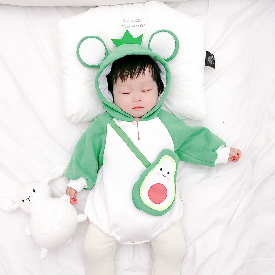 Uangshanl Best Wishes Baby Boy Kids Warm Infant Long Sleeve Romper Jumpsuit Clothes Outfit