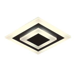 Image 5 - חדש אקריליק כיכר/עגול מנורת נברשות סלון חדר שינה בית AC85 265V מודרני Led נברשת מנורת גופי