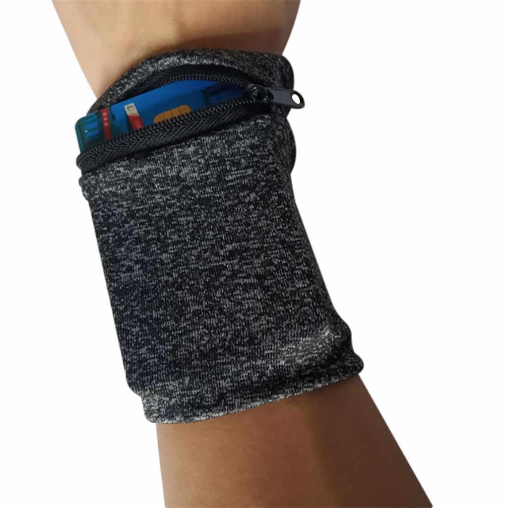 2019 neu Outdoor Lauf Taschen Radfahren Handgelenk Multifunktions Handgelenk Band Zipper Ankle Wrap Sport Armband Brieftasche Lagerung