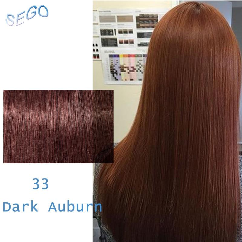 """SEGO 1""""-22"""" 70 г Прямой зажим синтетических Пряди человеческих волос для наращивания фабричного производства-Реми 7 шт./компл. бразильский волос чистый и фортепиано Цвет - Цвет: #33"""