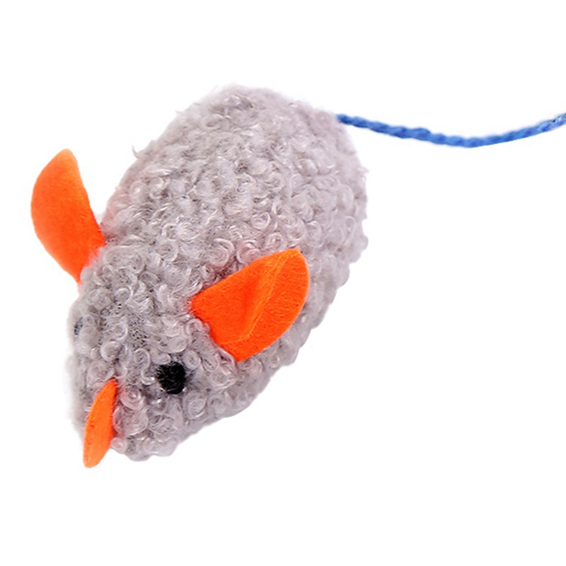Simulation Plush Mouse Toy With Tail For Cats Pet Interactive Toy Teaser Kitten Supplies Puppy Playing Exercise Supplies Pet Toy 16
