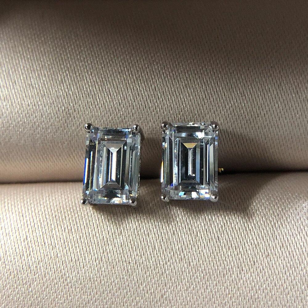 Knriquen твердого стерлингового серебра 925 создан Муассанит