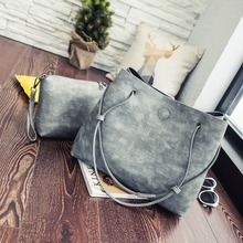 2019 New Korean Style Fashion Small and Large Bucket Crossover Shoulder Bag/Hand Bag Free shipping