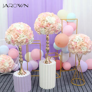 JAROWN Rose Hydrangea Flowers Wedding-Flower-Ball Party-Decor Artificial Simulation Home