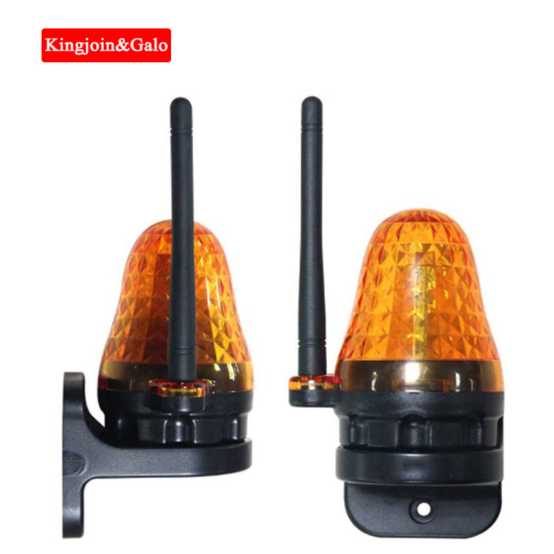 Universal 12V 220V Outdoor LED Signal Alarm Light Strobe Flashing Emergency Warning Lamp Wall Mount For Automatic Gate Opener