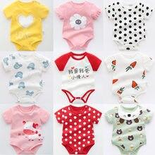 Olekid 2021 verão bebê meninas macacão de algodão dos desenhos animados do bebê roupas dos meninos do bebê recém-nascido traje infantil menino roupas 0-3 anos crianças