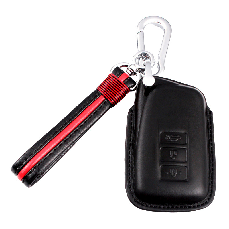 Leather Car Key Case Key Cover For <font><b>Lexus</b></font> <font><b>NX200</b></font> ES200 250 RX200t case Key shell ES RS GS IS LX NX Series image