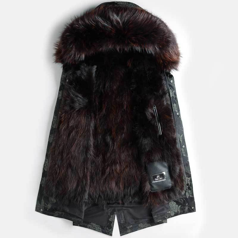2020 New Real Fur Coat Men Parka Winter Jacket Raccoon Fur Liner Thick Warm Luxury Jackets Parkas Hombre 4688 KJ2978