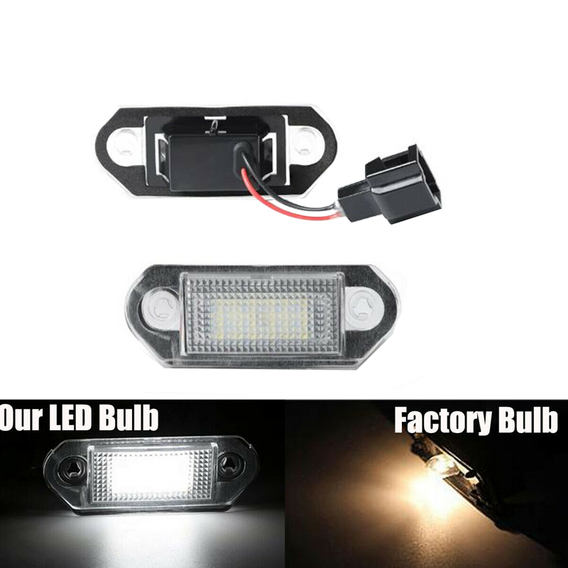 Car LED License Number Plate Light For-<font><b>VW</b></font> <font><b>Golf</b></font> <font><b>MK3</b></font> Skoda image