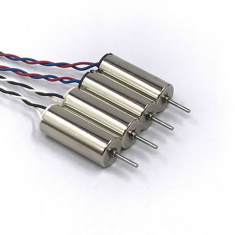 4 шт. 820 8 мм * 20 мм мини-двигатель без сердечника 3,7 В постоянного тока 4,2 в 48000 об/мин ультра-высокоскоростной двигатель DIY RC Drone
