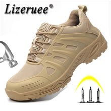Mens Safety Shoes Steel Toe Work Boots Fashion Breathable Footwear Army Working