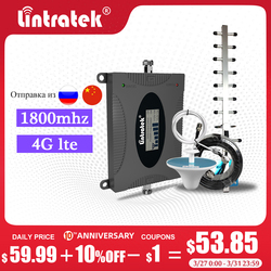 Lintratek 4G LTE 1800MHz DCS Repetidor de Sinal de Telefone Móvel Impulsionador Celular 4G 1800 DCS Amplificador de Sinal  s6