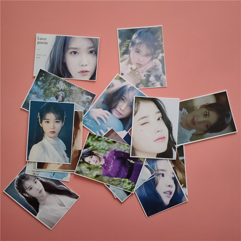 IU  Ji Eu New Album Love Poem Self Made Paper Lomo Card Photo Card Poster Photocard Fans Gift Collection