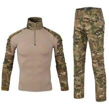 Militar tático uniforme de secagem rápida respirável camuflagem roupas jaqueta bombardeiro camisa carga calça terno combate assualt roupas
