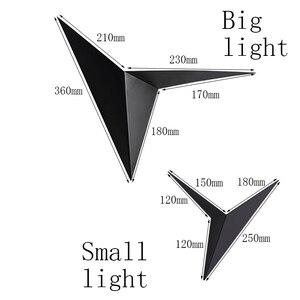 Image 2 - LED nowoczesny minimalistyczny trójkąt żelaza sztuki kształt kinkiety styl skandynawski kryty kinkiety oświetlenie do salonu 5W / 3W AC85 265V