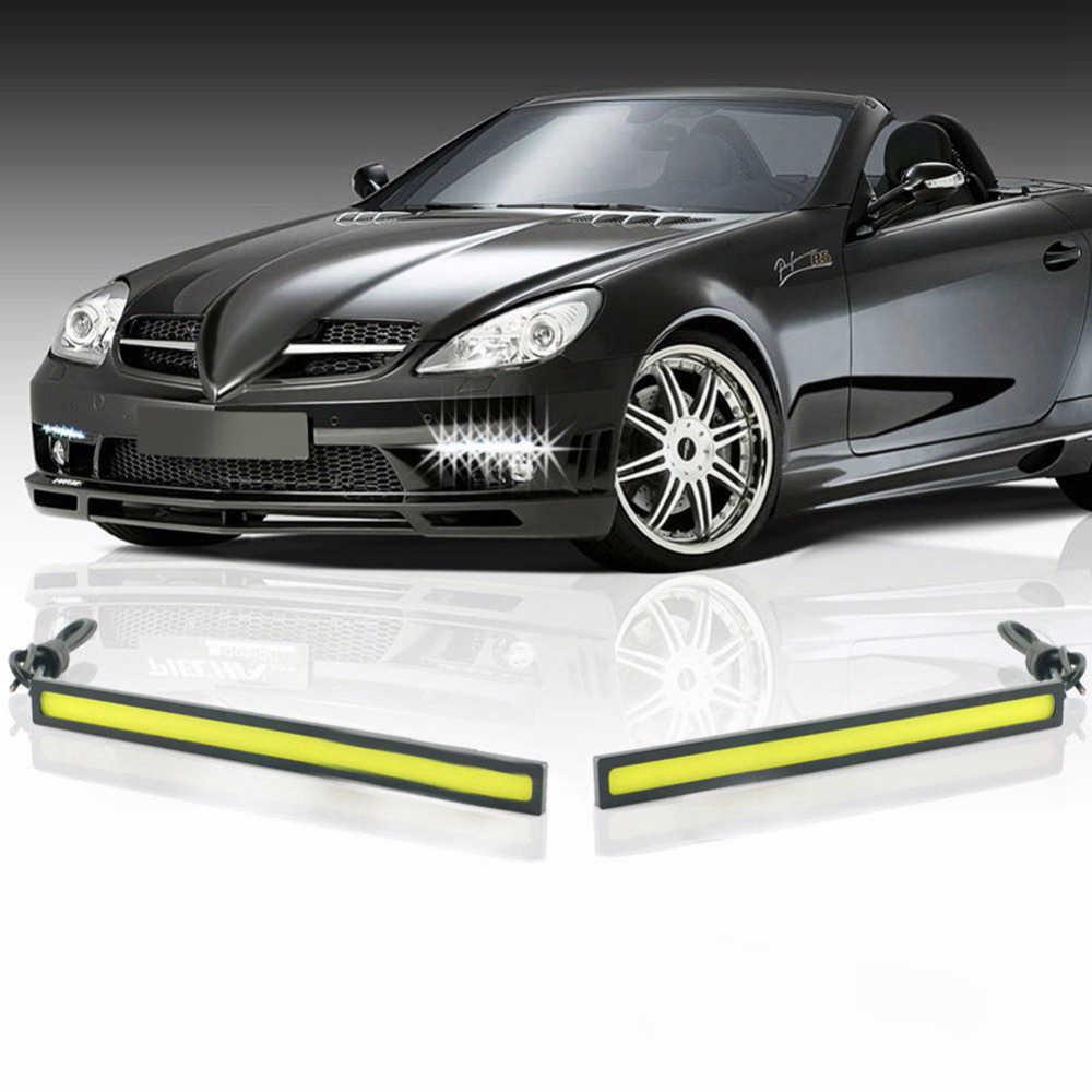 تصفيف السيارة 1 قطعة مصباح LED فائق الإشراق النهار تشغيل أضواء 17 سنتيمتر مقاوم للماء السيارات سيارة DRL COB القيادة الضباب مصباح لسيارات bmw كيا
