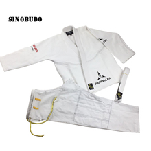 Wholesale Brazilian Cotton Gladiator Judo Doboks Gi Martial Arts Judo Kimono WUshu Uniform White & Blue With Blet Adult kids super deal japan kendo aikido iaido hakama gi martial arts uniform sportswear dobok sets coat and culottes free collocation
