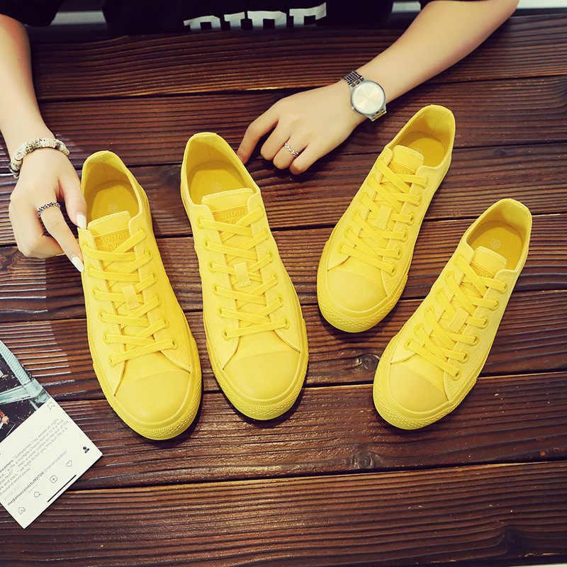 Women Yellow Sneakers Girls White