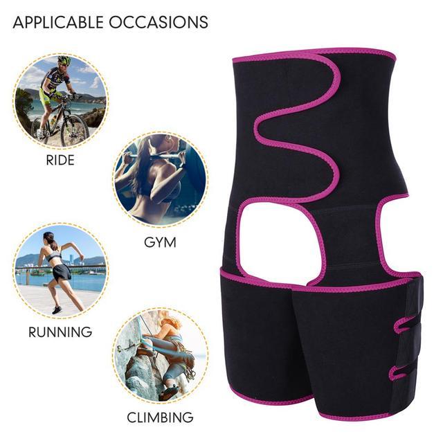 WAIST SECRET Woman Sweat Thigh Trimmers Leg Shaper Fajas Neoprene Slimming Belt Control Panties Fat Burning Wraps Thermo Belt 4