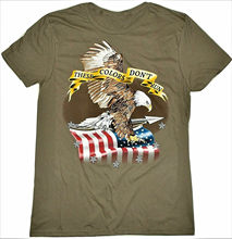 USA American Bald Eagle Flag Patriotic Mens Adult T Shirt S-3XL(China)