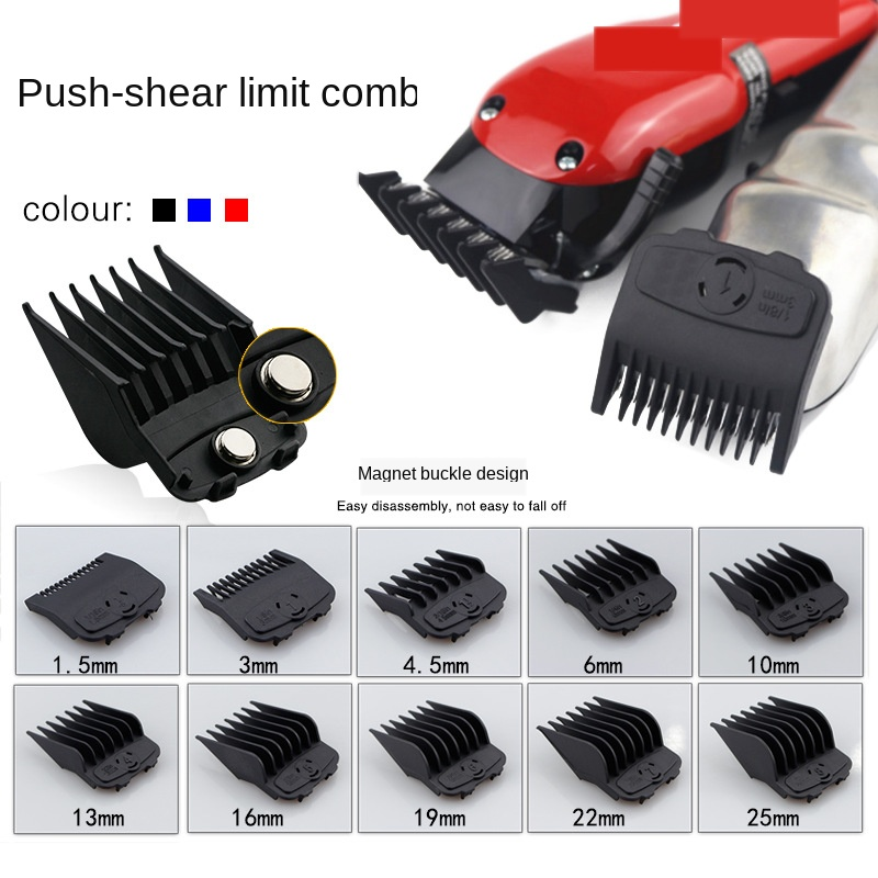 10pcs Universal Hair Clipper Limit Comb Guide Attachment Size Barber Replacement For Wahl Comb 1.5mm 4.5 Hair Clipper G0115