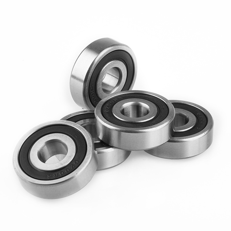 5Pcs 6200ZZ / 2RS 6200 Bearing 10 * 30 * 9 High Speed Low Noise Feel Smooth Deep Groove Ball Rolling Bearing