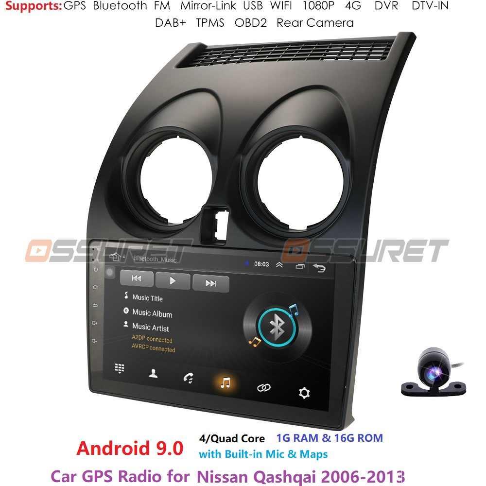 2DIN Xe Màn Hình 2 DIN Dành Cho Xe Nissan Qashqai 1 J10 2006-2013 Phát Thanh Xe Hơi Đa Phương Tiện Video Dẫn Đường GPS android 9.0 Không DVD