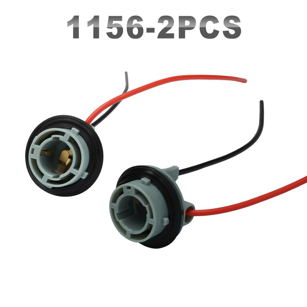 2×1156 Headlight Assembly Male Socket Plug 2-wire Adapter Extension Connector