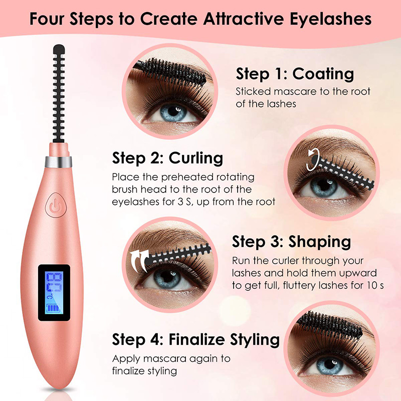 mini usb recarregável lash curler ferramenta com