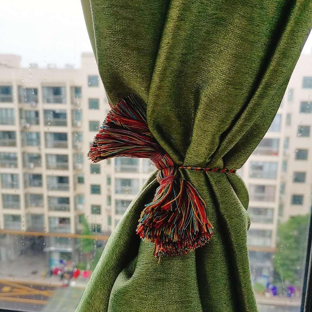 Разноцветные полиэфирные хлопковые кисточки diy украшения занавески