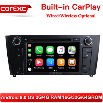 CarExc AutoRadio One Din Android 9.0 Car DVD Player Support Wireless CarPlay Multimedia For BMW 1 Series E81 E82 E88 2007-2014 image