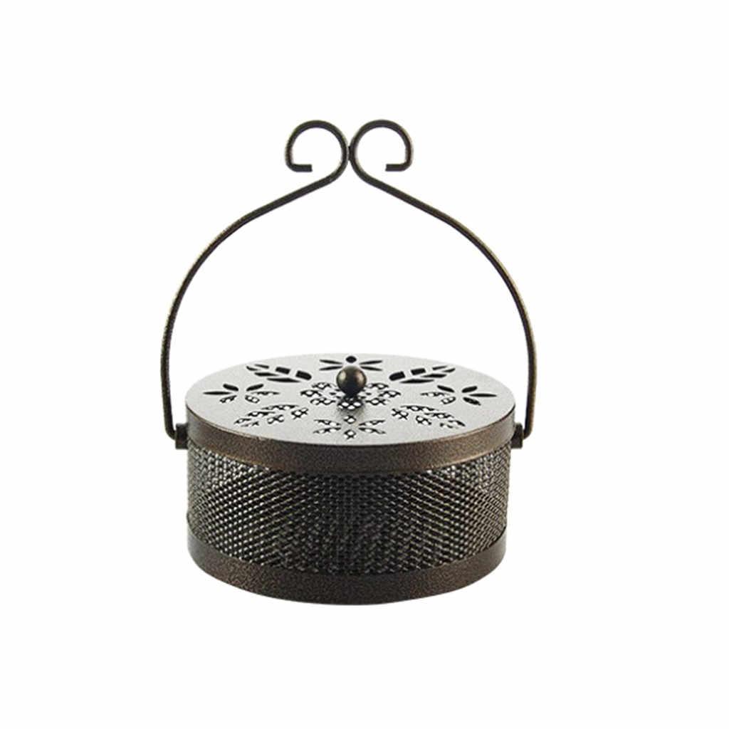 Летняя противопожарная Москитная спираль из кованого железа, переносная Бытовая противомоскитная коробочка, мыльница