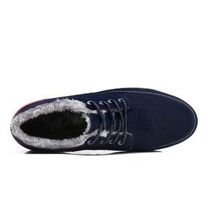 Image 4 - SUROM Männer Lederne Beiläufige Schuhe Mokassins Männer Loafers Luxusmarke Winter Neue Mode Turnschuhe Männlichen Boot Schuhe Wildleder Krasovki