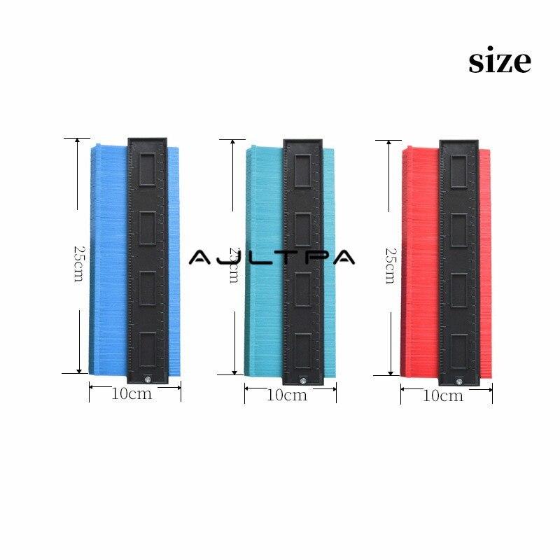 20Pcs 5inch 6inch 10inch Template Curvature Scale Ruler Contour Gauge Laminate Carpet Wood Tile Profile Measure Radian Ruler