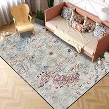 Tapis persan Vintage Floral, ethnique Boho, décoration de maison, Salon, chambre à coucher, coussin de porte antidérapant
