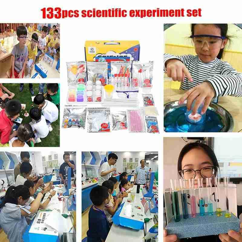Set de experimentos de ciencia para niños, de 133 Uds., hecho a mano, para estudiantes de escuela primaria, ayuda en Enseñanza de Química Física - 4