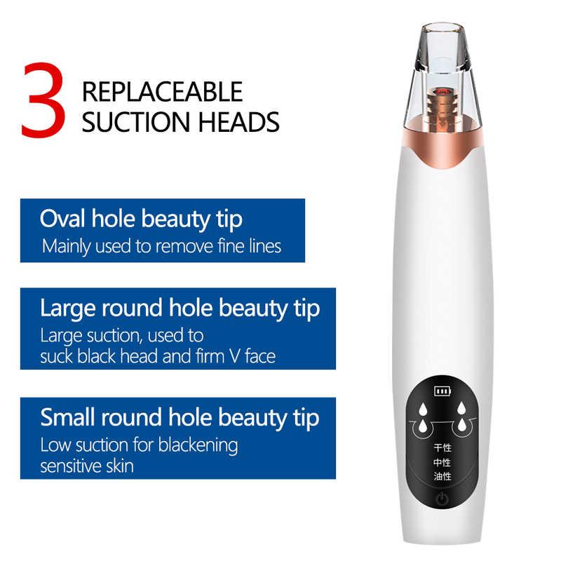 Elektrische Mitesser Entferner Gesicht Nase Vakuum Saug Mitesser Pickel Akne Remover Reiniger mit 6 tipps Gesichts Hautpflege Werkzeug