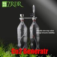 ZRDR Aquarium DIY CO2 Generator System Kit with Pressure Air Flow Adjustment Water Plant Fish Tank Aquarium Co2 Solenoid valve