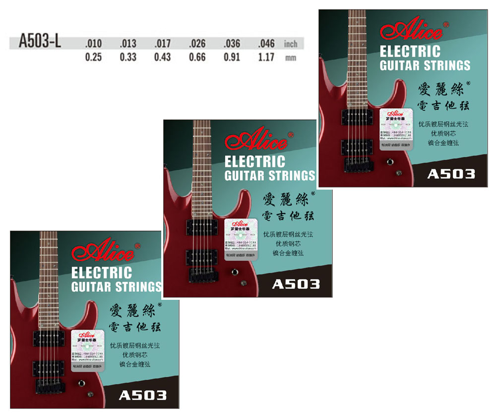 3 Sets Alice A503 Coating ANTI RUST plain steels Electric Guitar Strings-in Guitar Parts & Accessories from Sports & Entertainment