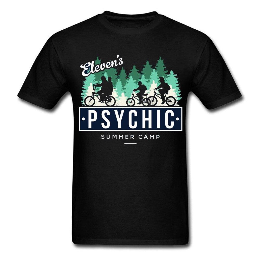 Eleven Stranger Things Forest Cycle Biker T Shirts Dustin Demogorgon Funny Design Popular Tshirt Men 100 Cotton