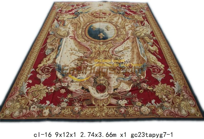 Antieke Franse Stijl Aubusson Modieuze Huishoudelijke Siert Circulaire Pure Wol Breien Mandala Beddengoed