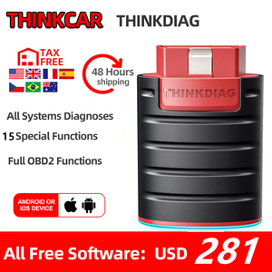 Image 1 - Thinkcar ThinkDiag obd2 Code Reader Scanner Automative diagnostic tool Vehicle 15 reset service Active Test pk EasyDiag AP200